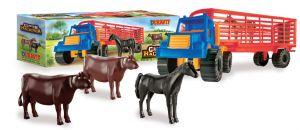 Camión semi Hacienda con animales