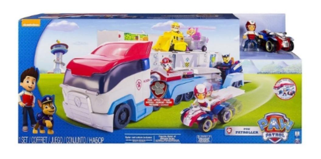 Paw Patrol - Camión Gigante para Guardar los Vehículos con Figura y Sonidos