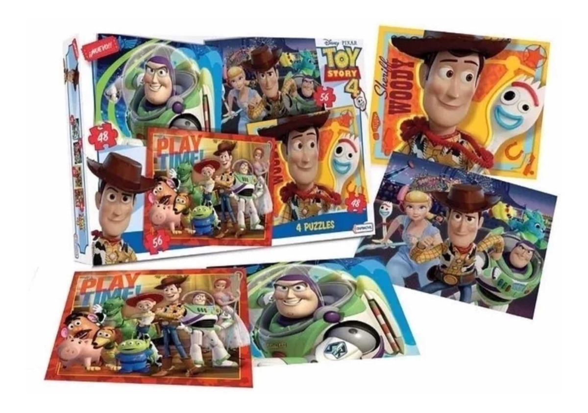 4 Puzzles en 1 - Toy Story