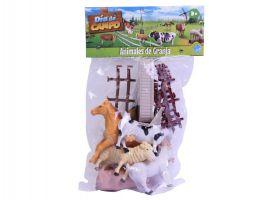 Animales Muñecos De Granja X 6 Con Accesorios Dia De Campo