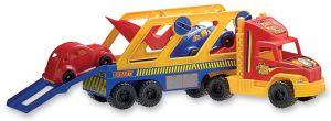 Camión transporte con 2 autos