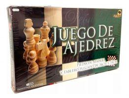 JUEGO DE AJEDREZ - PIEZAS DE MADERA