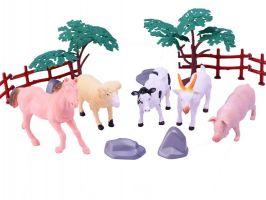 Animales Muñecos De Granja X 22 Piezas En Frasco