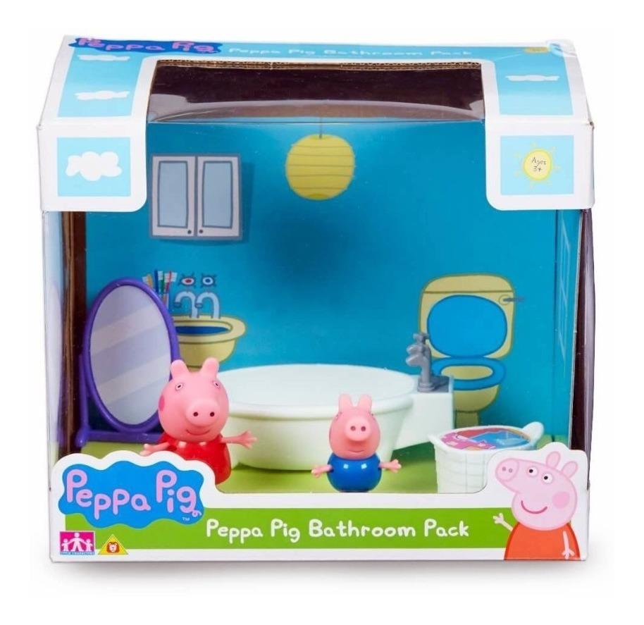 Peppa Pig - Baño Pack con 2 Figuras